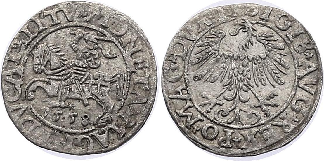 1/2 Groschen 1558 Litauen Sigismund August (1545 - 1572) f.vz