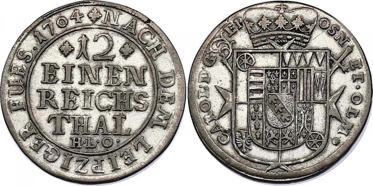 1/12 Taler 1704 HLO Deutschland - Osnabrück (Bistum) Karl Joseph von Lothringen (1698 - 1715) vz