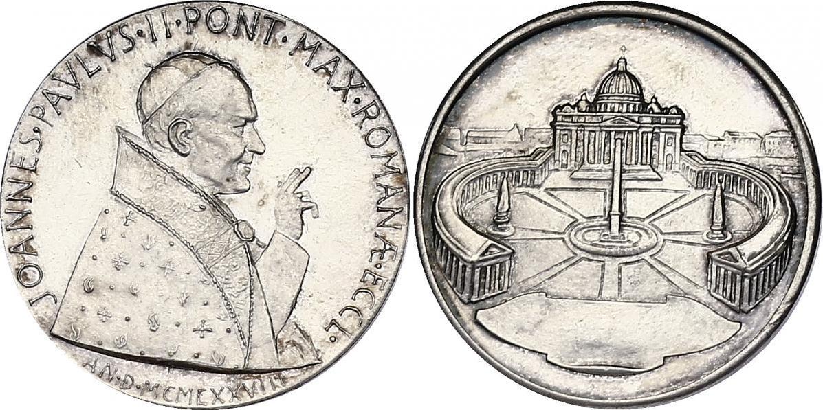 Medaille 1978 Vatikan Papst Johannes Paul II. (Petersdom) unc.
