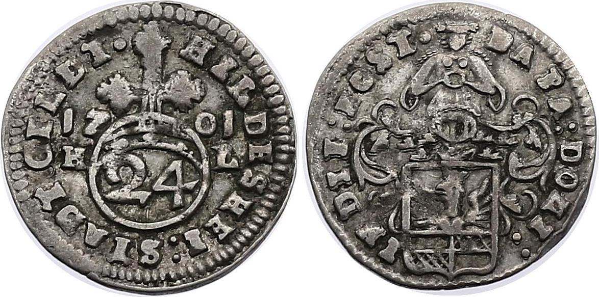 1/24 Taler 1701 HL Deutschland - Hildesheim (Stadt) f.vz, R