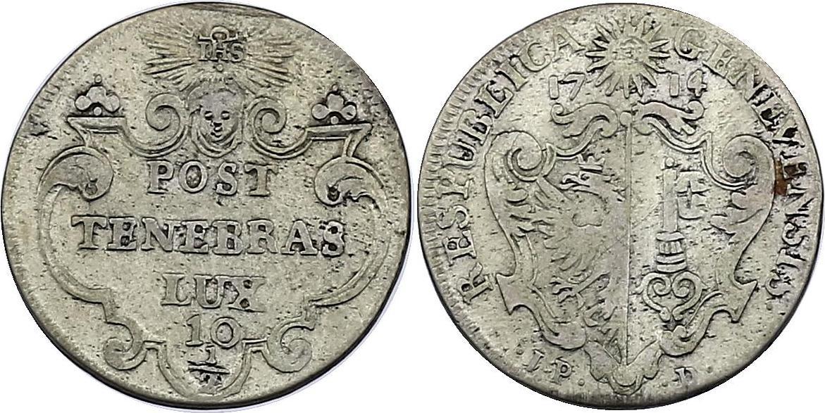 10 1/2 Sols 1714 Schweiz - Genf ss