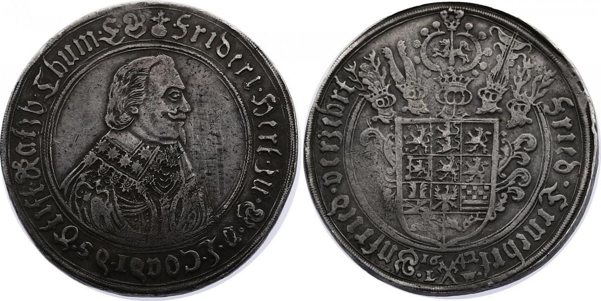 Taler 1642 L-W Deutschland - Braunschweig - Lüneburg - Celle Friedrich V. (1636 - 1648) ss+
