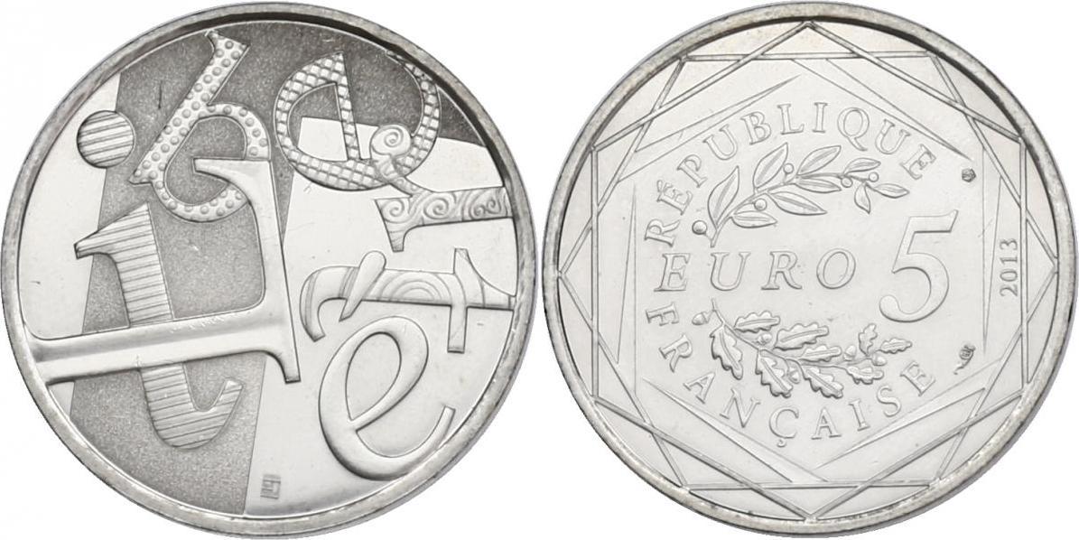 """5 Euro 2013 Frankreich """"Liberté"""" unc."""