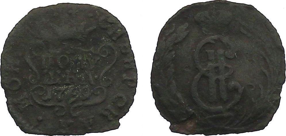 Poluschka (1/4 Kopeke) 1769KM Russland - Sibirien Katharina II. (1762 - 1796) ss