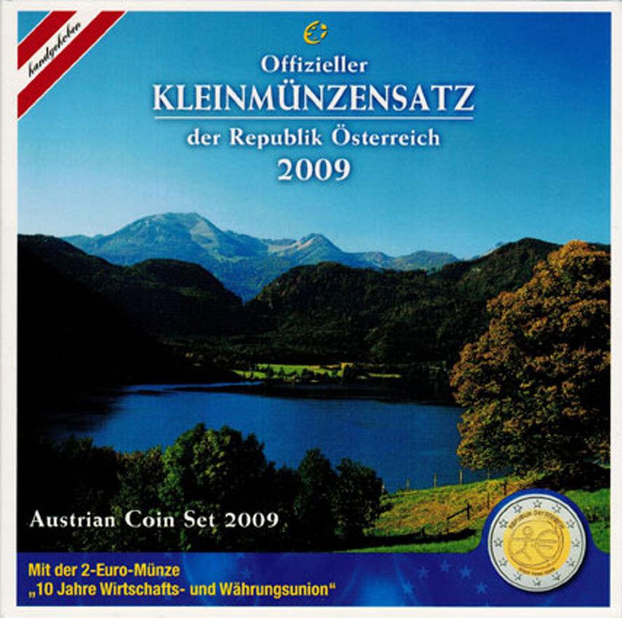 Kms Cent 2 Euro 2009 österreich Ii Republik Kursmünzensatz