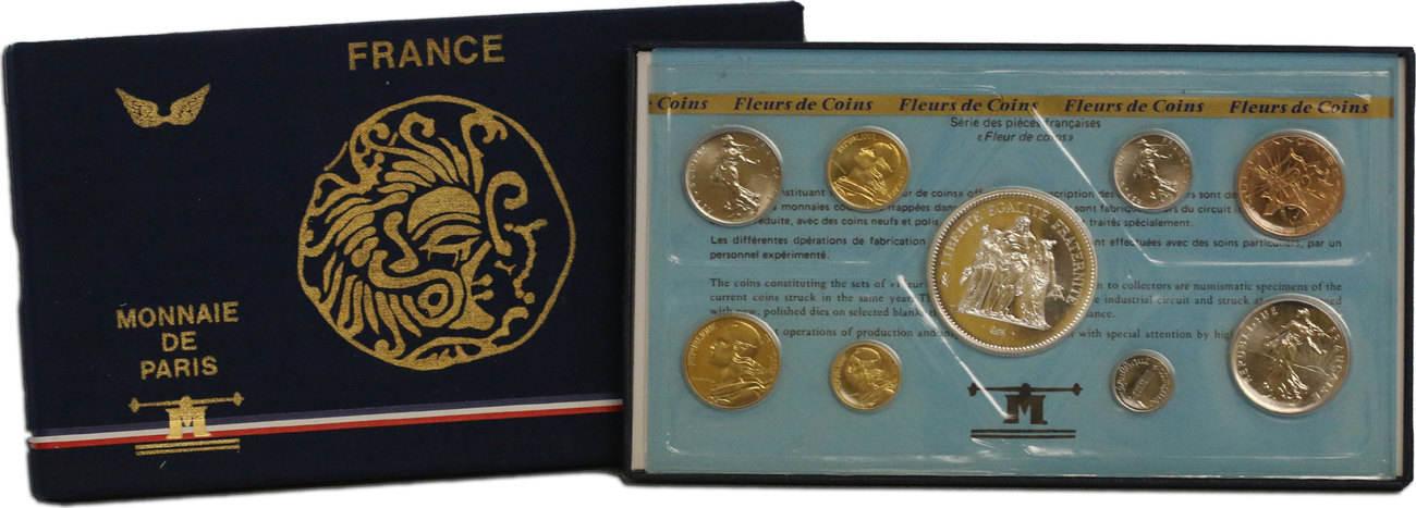 KMS (Centime - 50 Francs) 1978 Frankreich Offizieller Kursmünzensatz (Monnaie de Paris) unc. in Originalverpackung