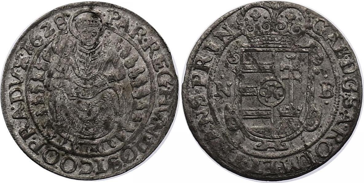 Breitgroschen Nagybanya 1628 NB Siebenbürgen Gabriel Bethlen (1613-1629) fvz