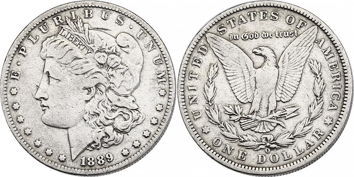 """Dollar 1889 O USA """"Morgan"""" f.ss"""