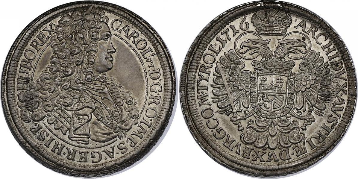 Taler 1716 Wien RDR Karl VI. (1711 - 1740) f.stgl.