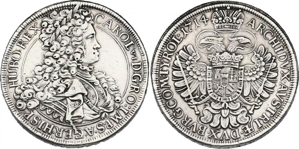 Taler 1714 Wien RDR Karl VI. (1711 - 1740) ss-vz