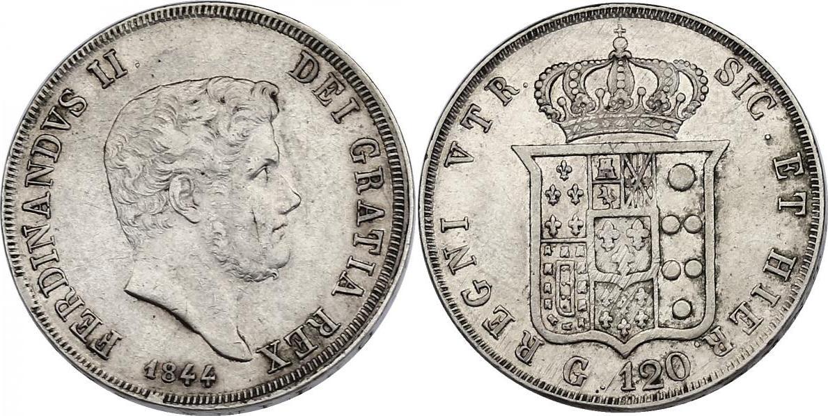 120 Grana 1844 Italien - Neapel & Sizilien Ferdinand II. (1830 - 1859) ss+