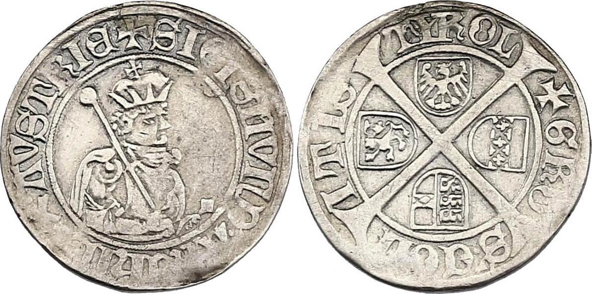 6 Kreuzer o.J. RDR Erzherzog Sigismund von Tirol (1439 - 1496) ss-vz