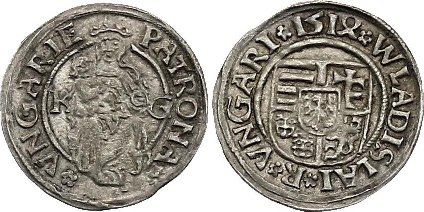 Denar 1514 KG Ungarn Wladislaus II. (1490 - 1516) ss-vz