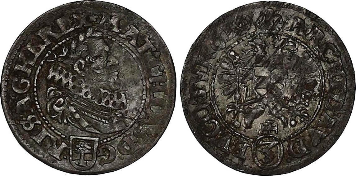 Groschen (1)619 Wien RDR Matthias als König (1608-/1612 - 1619) ss