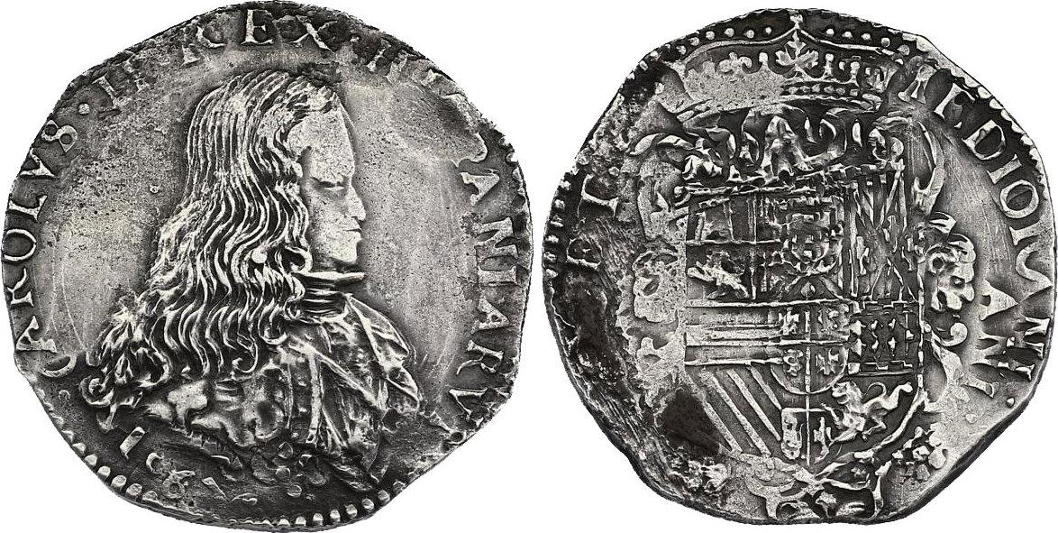 Filippo 1676 Italien - Mailand Karl II. von Spanien (1665 - 1700) ss