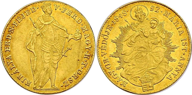 Dukat für Ungarn 1848 RDR Ferdinand I. (1835 - 1848) - Aufständische in Ungarn f.vz/vz