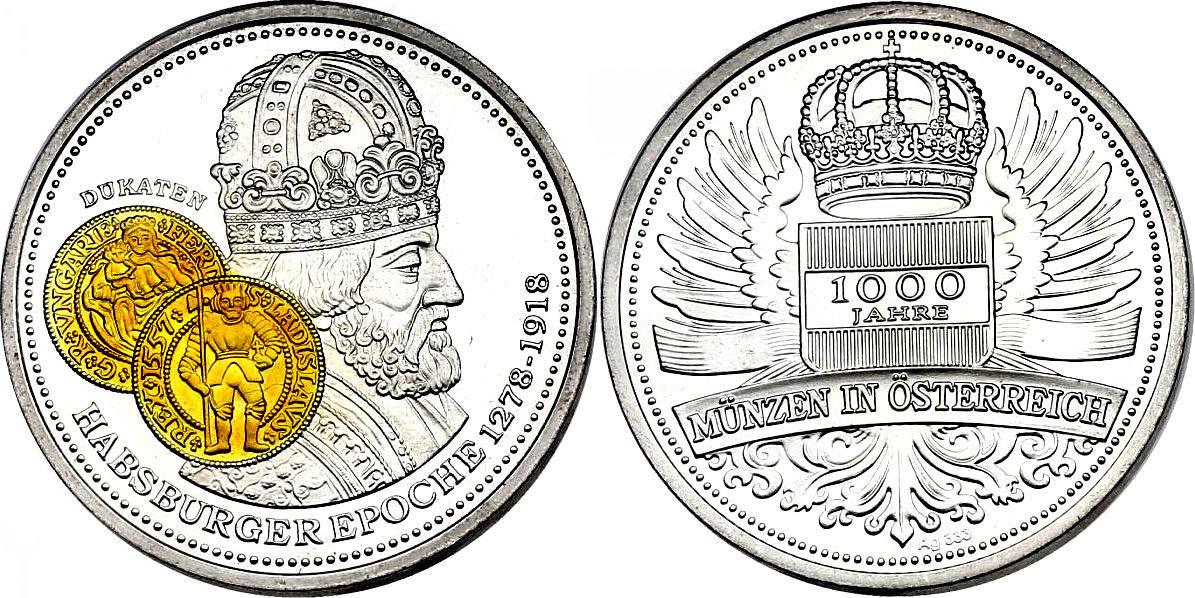 Ag Medaille Oj österreich Serie 1000 Jahre Münzen In österreich