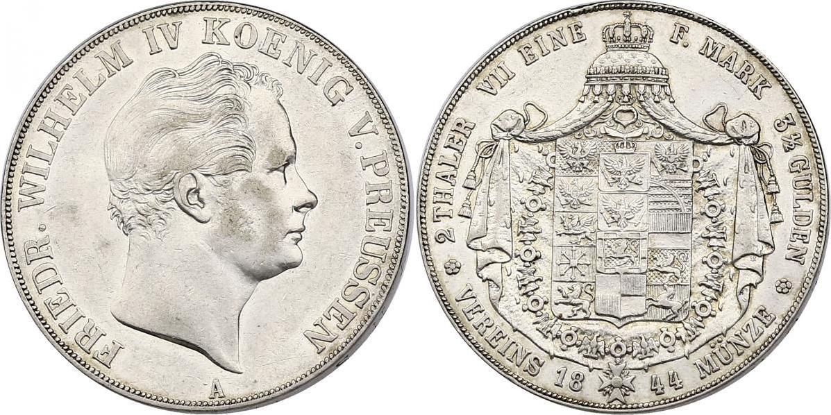 Doppeltaler 1844 A Deutschland - Preussen Friedrich Wilhelm IV. (1840 - 1861) ss/vz