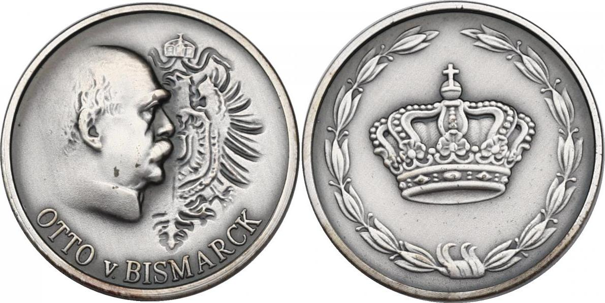"""Medaille o.J. Deutschland """"Otto von Bismarck"""" unc."""