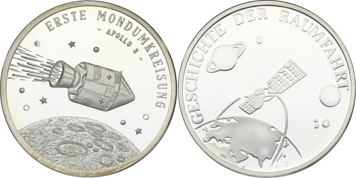 "Ag-Medaille o.J. Serie ""Geschichte der Raumfahrt""- Erste Mondumkreisung (Apollo 8) pp."