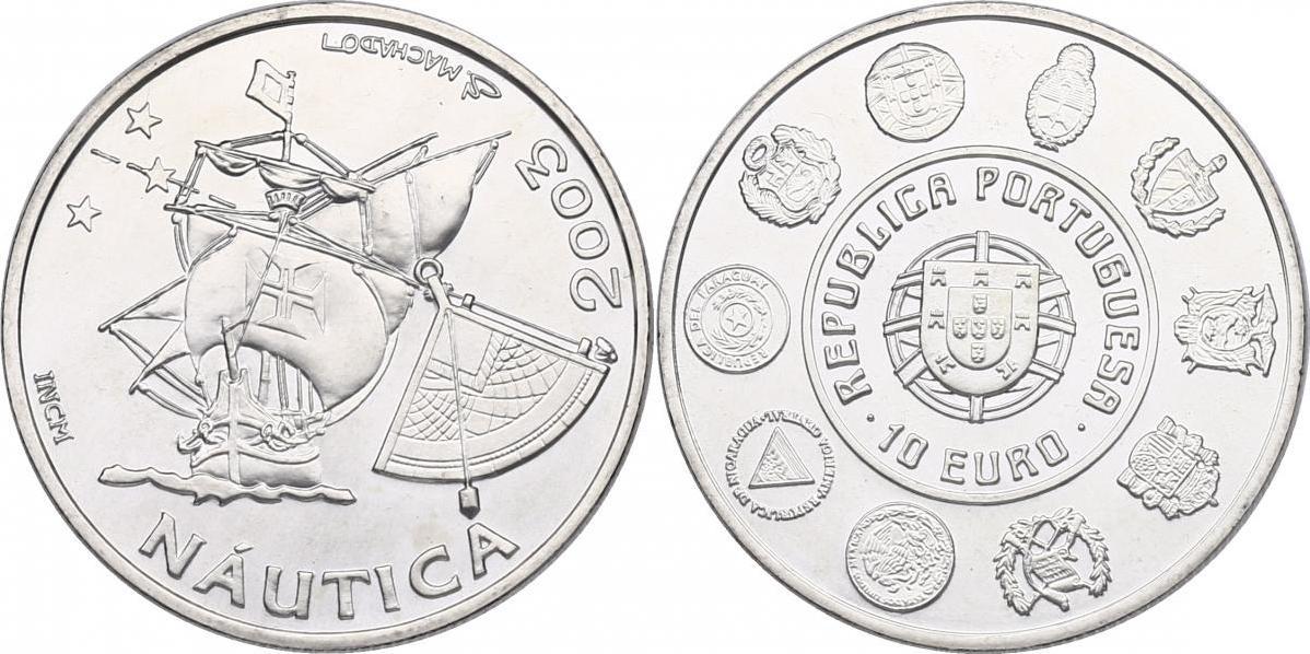 "10 Euro 2003 Portugal ""Segelschiff"" stgl."