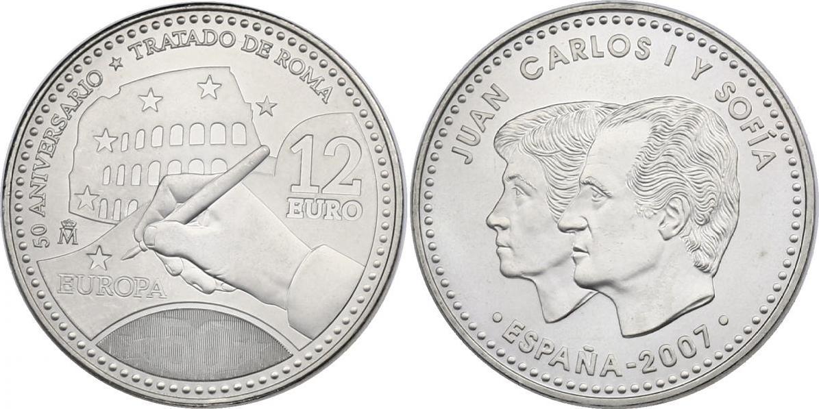 """12 Euro 2007 Spanien """"50 Jahre Römische Verträge"""" stgl."""