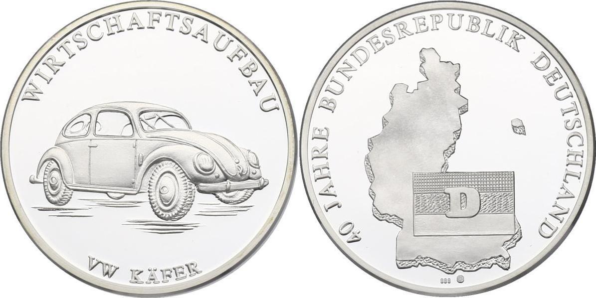 Ag Medaille Oj Deutschland Serie Quot40 Jahre Bundesrepublik