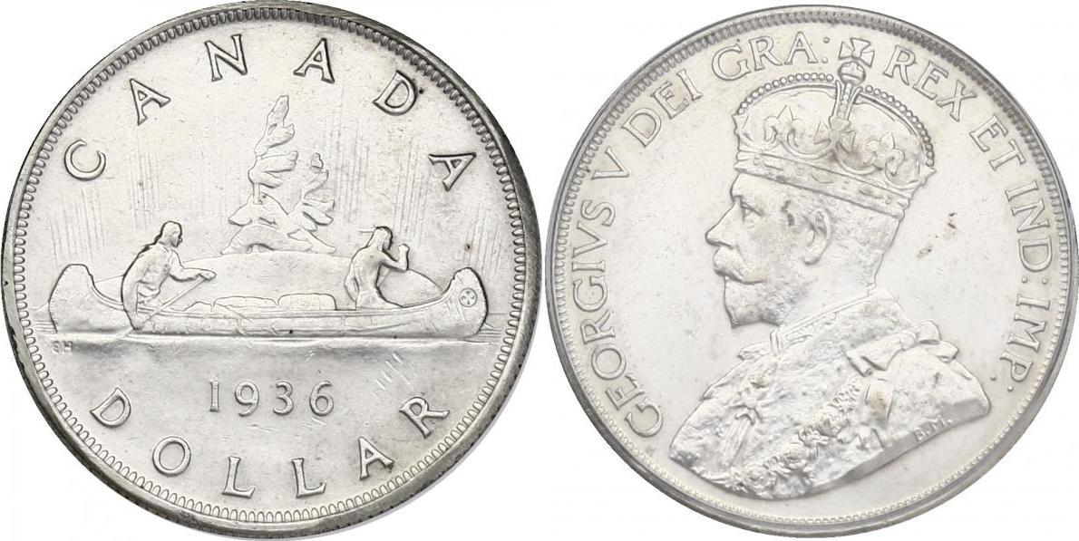 "Dollar 1936 Kanada ""Kanu"" vz"