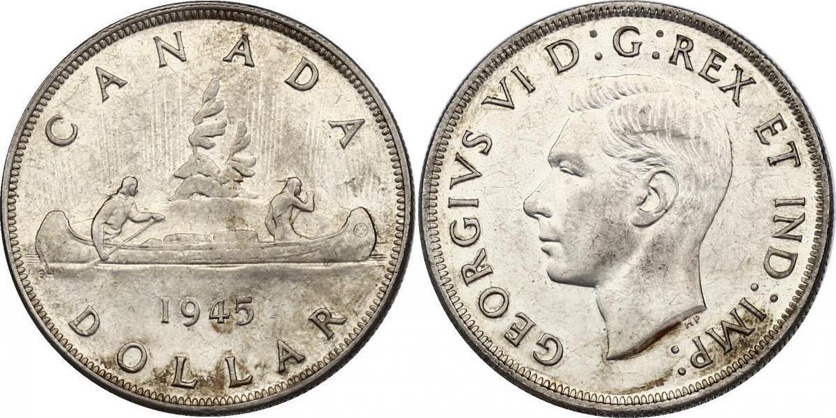 """Dollar 1945 Kanada """"Kanu"""" vz-stgl., R"""