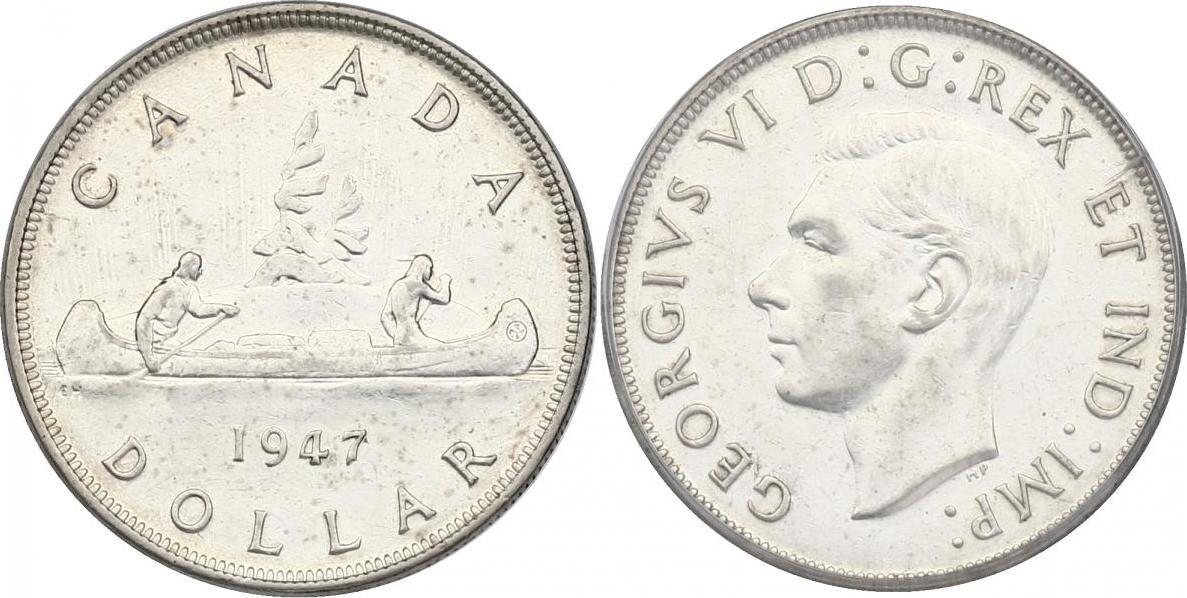 """Dollar 1947 (blunt) Kanada """"Kanu"""" vz"""