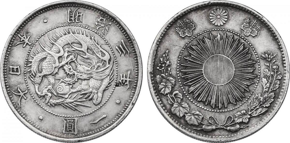 Yen 1870/3 Japan Meiji (1867 - 1912) vz