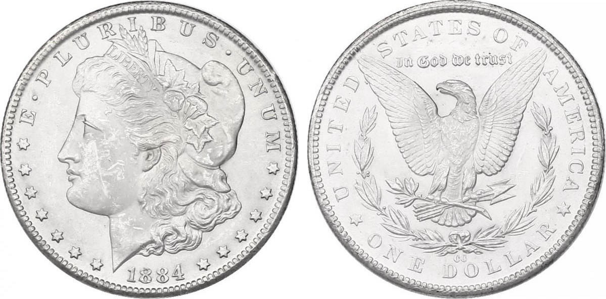 """Dollar 1884 CC USA """"Morgan"""" stgl."""