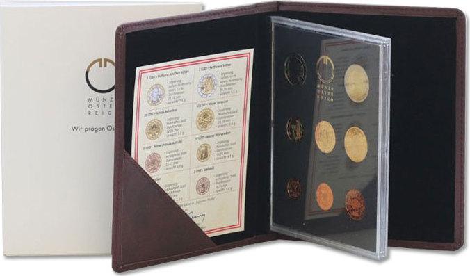 KMS (Cent - 2 Euro) 2008 Österreich - II. Republik Offizieller Kursmünzensatz (Münze Österreich) pp. in Originalverpackung mit Zertifikat