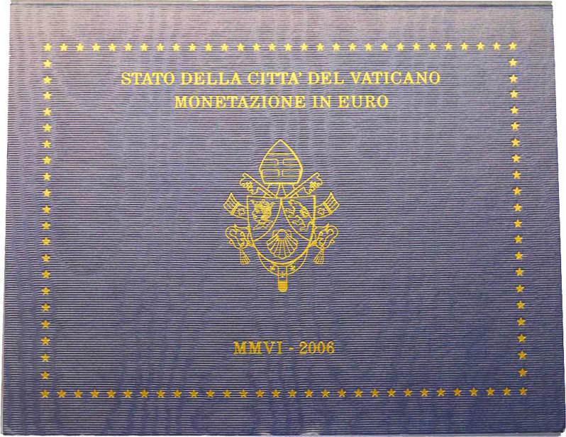 KMS (Cent - 2 Euro) 2006 Vatikan Papst Benedikt XVI. unc. im Originalblister