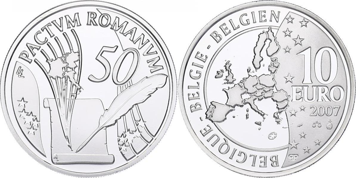 10 Euro 2007 Belgien 50 Jahre Römische Verträge pp.