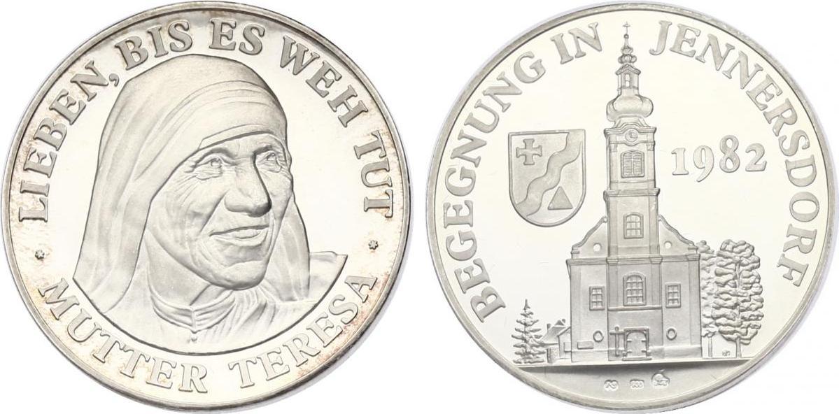 Ag-Medaille 1982 Österreich Lieben bis es weh tut: Mutter Theresa - Begegnungen in Jennersdorf pp.