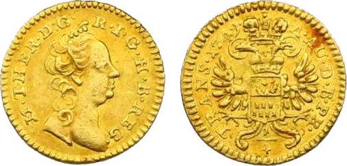 1/4 Dukat 1749 Karlsburg RDR Maria Theresia (1740 - 1780) vz