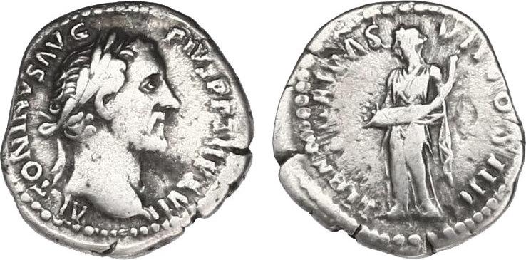 Denar Römische Kaiserzeit (Antoninische Dynastie) Antoninus Pius (138 - 161) f.ss