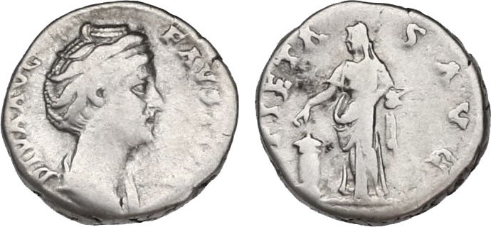 Denar Römische Kaiserzeit (Antoninische Dynastie) Annia Galeria Faustina Mater s-ss