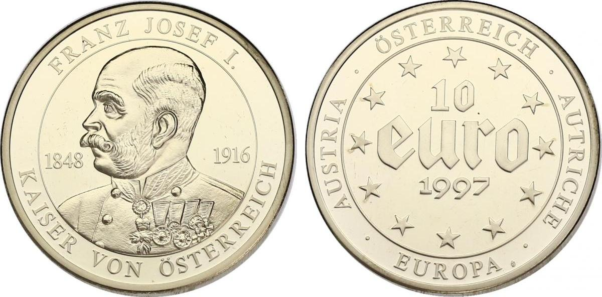 10 Euro 1997 österreich Franz Joseph 1848 1916 Pp Mit