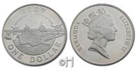 Dollar 1987 Bermuda 50 Jahre kommerzieller Flugverkehr - Flugzeug pp.  25,00 EUR  zzgl. 9,90 EUR Versand