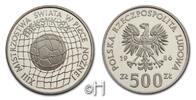 Polen 500 Zloty XIII. Fußball-Weltmeisterschaft Mexiko 1986