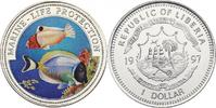 "Liberia Dollar Serie ""Marine Life Protection"" - Fische"