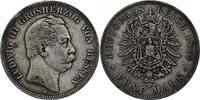 """Deutschland - Hessen 5 Mark """"Ludwig III."""" 1848 - 1877"""