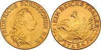 Deutschland - Preussen Messingsabschlag des Reichstalers Friedrich II. (1740 - 1760)