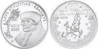 Belgien 10 Euro 500 Jahre Lob der Torheit LAUS STULTITAE des Erasmus von Rotterdam