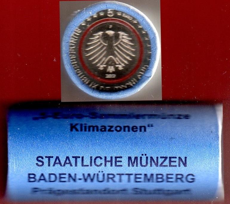 5 Euro F X 25 Bundesrepublik Tropische Zone Original Rolle F Top