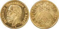 Kaiserreich, Baden 20 RM Grossherzog Friedrich I