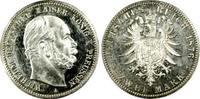 Kaiserreich Preußen 2 RM Kaiser Wilhelm I