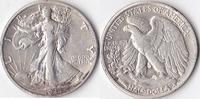 USA, Half Dollar, Liberty Walking Type 1916-1947,